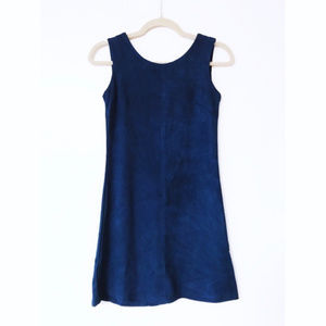 Blue suede mini dress by Love Marks